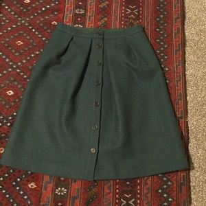 J Crew button front skirt in double serge wool, 2